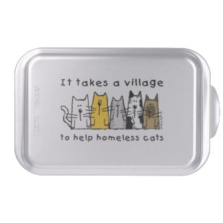 Toma a desamparados de la ayuda del pueblo gatos molde para pasteles