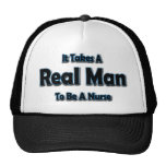 Toma a un hombre real para ser enfermera gorras de camionero