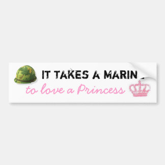 Toma a un infante de marina para amar a una prince pegatina de parachoque