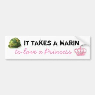 Toma a un infante de marina para amar a una prince pegatina para auto