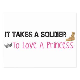 Toma a un soldado para amar a una princesa postales