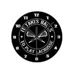 Toma bolas para jugar el reloj redondo de LaCrosse