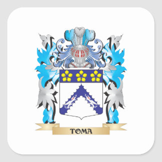 Toma Coat of Arms - Family Crest Square Sticker