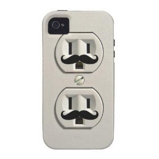 Toma de corriente del bigote vibe iPhone 4 carcasas