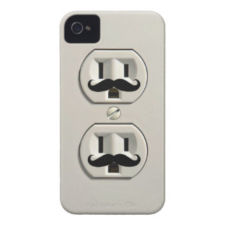 Toma de corriente del bigote iPhone 4 Case-Mate protectores