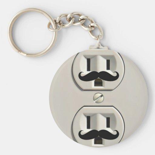 Toma de corriente del bigote llavero personalizado