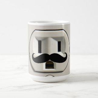 Toma de corriente del bigote tazas de café