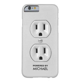 Toma de corriente divertida personalizada funda barely there iPhone 6