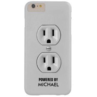 Toma de corriente personalizada divertida funda para iPhone 6 plus barely there