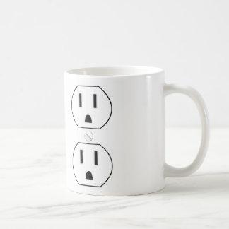 Toma de corriente taza de café