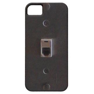 Toma de teléfono para la línea teléfonos caseros funda para iPhone 5 barely there