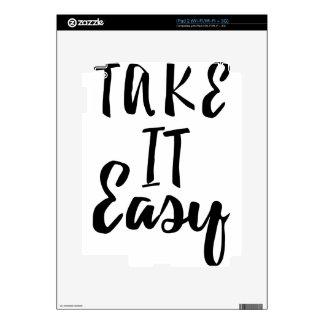 toma-él-fácil iPad 2 skins