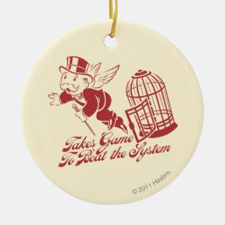 Toma el juego para batir el sistema adorno navideño redondo de cerámica