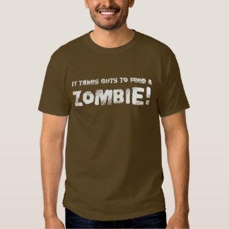 Toma la camiseta del zombi de la tripa - estilo de remeras