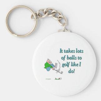 Toma muchas bolas para golf como hago llavero redondo tipo pin