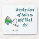 Toma muchas bolas para golf como hago tapete de raton