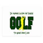 Toma muchas bolas para golf como hago tarjetas postales