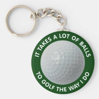 Toma muchas bolas para golf la manera que lo hago llavero redondo tipo pin