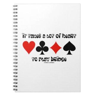Toma mucho corazón para jugar el puente libreta