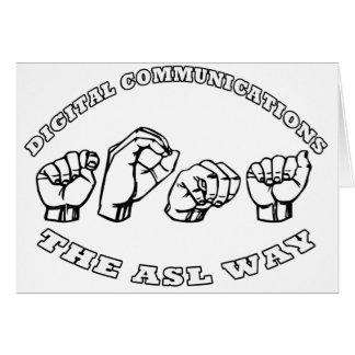 TOMA NAME ASL  FINGERSPELLED DIGITAL COMMUNICATION CARD