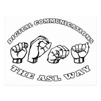 TOMA NAME ASL  FINGERSPELLED DIGITAL COMMUNICATION POSTCARD