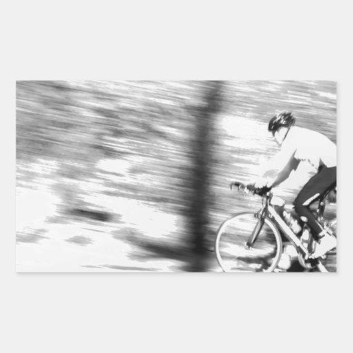 Toma panorámica Bike_.jpg Rectangular Pegatinas