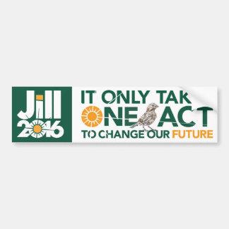 Toma solamente un acto para cambiar nuestro futuro pegatina para auto