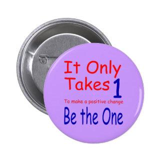 Toma solamente un botón pin redondo de 2 pulgadas