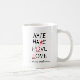 Toma solamente uno tazas de café