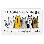 Toma un pueblo para ayudar a gatos sin hogar imanes de vinilo