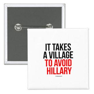 Toma un pueblo para evitar a Hillary Pin Cuadrado