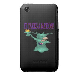 Toma una nación iPhone 3 Case-Mate protector