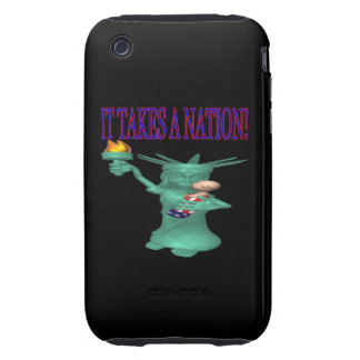 Toma una nación iPhone 3 tough protector
