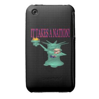 Toma una nación iPhone 3 Case-Mate fundas