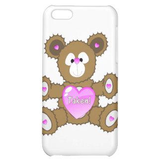 tomado, oso de peluche, caso de Iphone