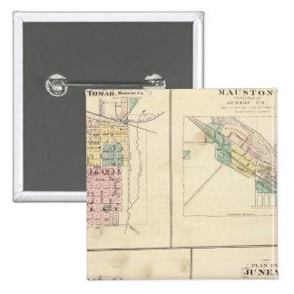 Tomah, Mauston, Fox Lake and Juneau Pinback Button