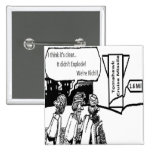 Tomahawk Cruise Missile: 1.6 Mil. Political Comic Pin