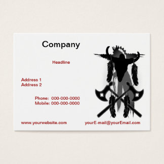 Tomahawks and Buffalo Skull  Business Card