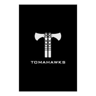 Tomahawks Logo Poster