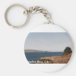 Tomales Bay CA Basic Round Button Keychain