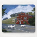Tomales Town Hall with sheep Mouse Pad