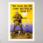 Tomamos la colina (blanca) póster