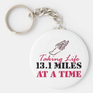 Tomando a vida 13,1 millas a la vez llaveros