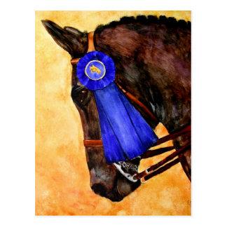Tomar a casa las postales azules (del caballo)