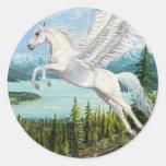 Tomar a los pegatinas de la fantasía del caballo pegatinas redondas
