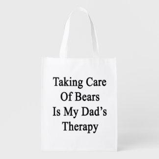 Tomar el cuidado de osos es la terapia de mi papá bolsas reutilizables
