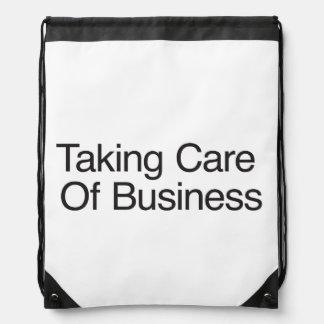 Tomar el cuidado del negocio mochilas