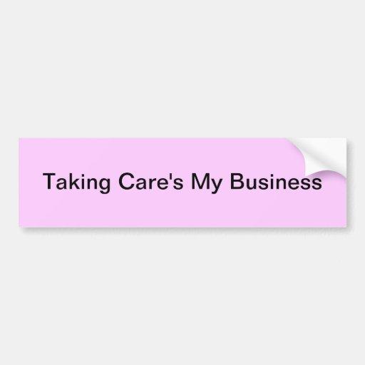 Tomar el mi negocio del cuidado pegatina para auto