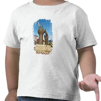 Tomar la escultura del vuelo camisetas