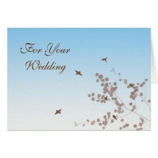 Tomar la invitación de boda del vuelo tarjeta pequeña